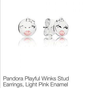 Pandora playful wink stud earrings